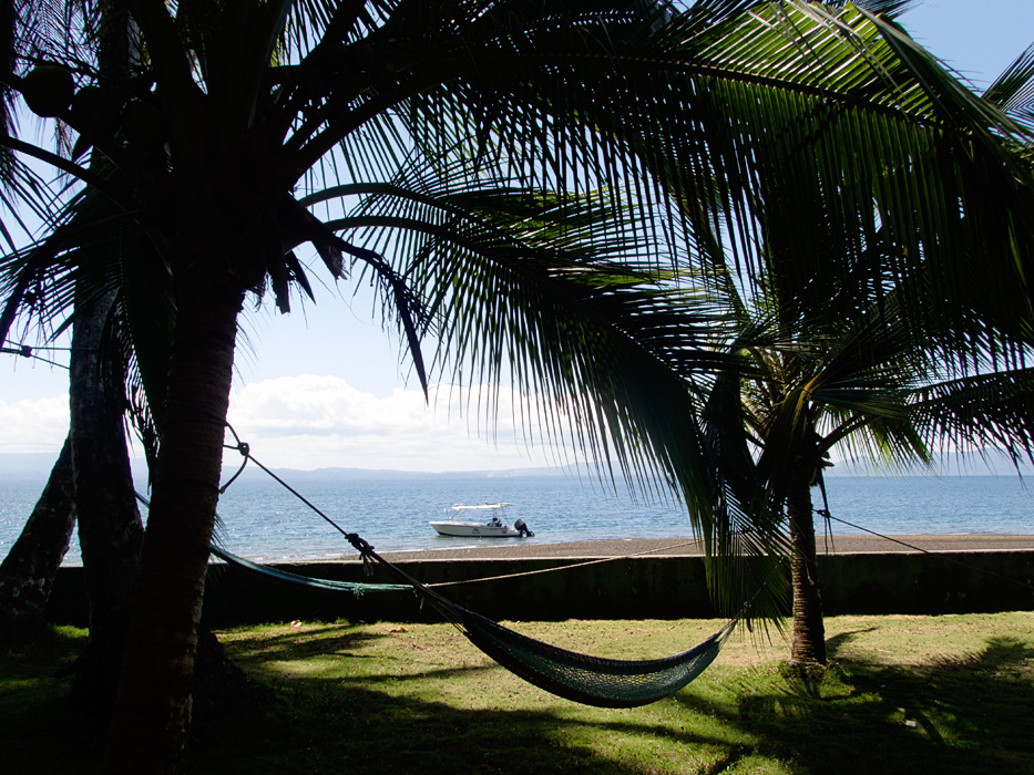 An idyllic scene in Golfo Dulce in Costa Rica, much of Central America was unscathed in the recent storms.