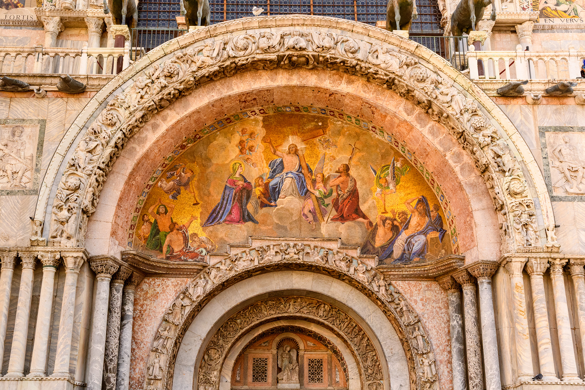 Our guide Andrea did an excellent job of interpreting all of the art work that adorns the facade of the basilica.
