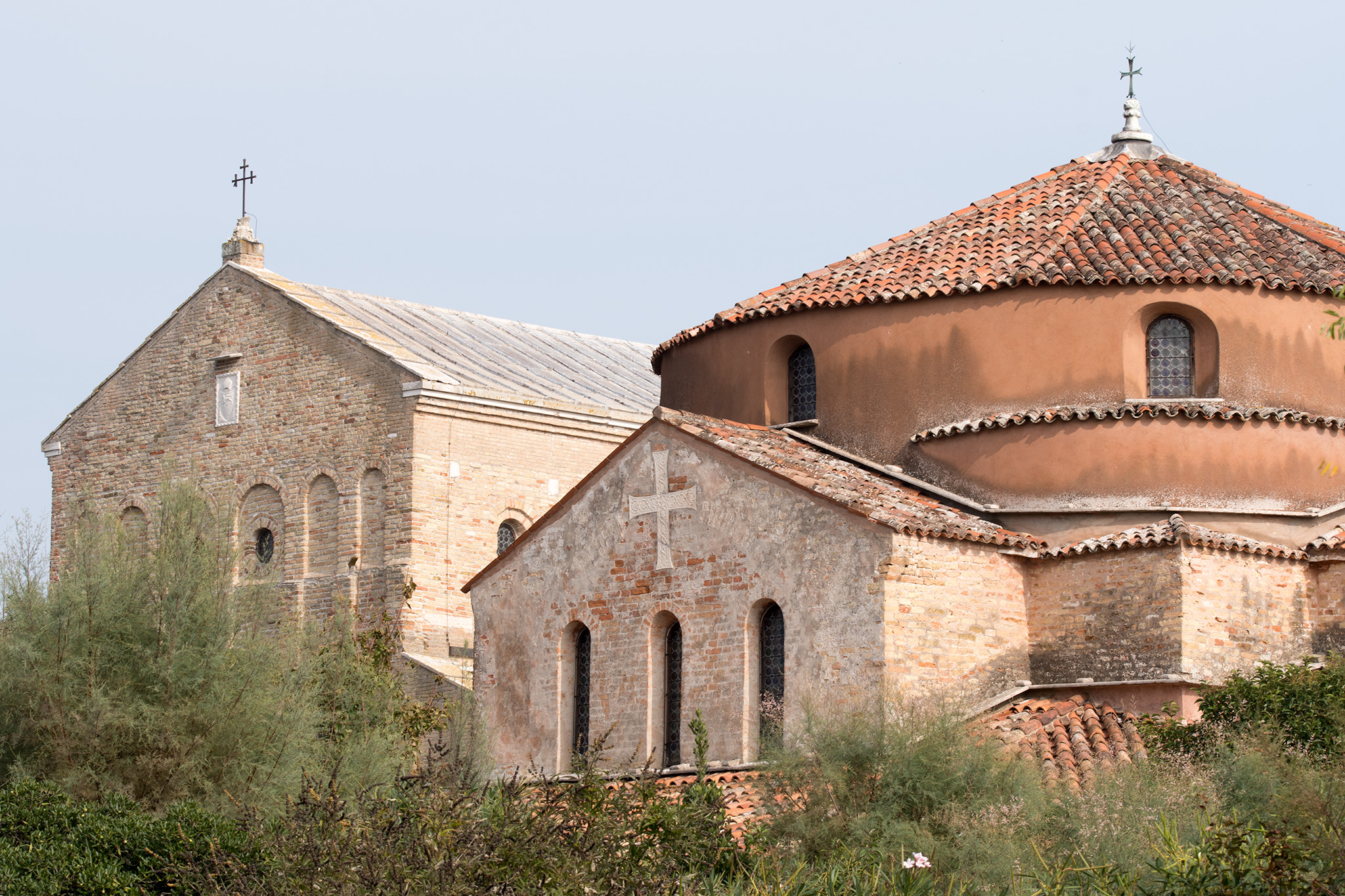 Santa Maria dell Assunta (l)  and Santa Fosca (r) 11th century churches