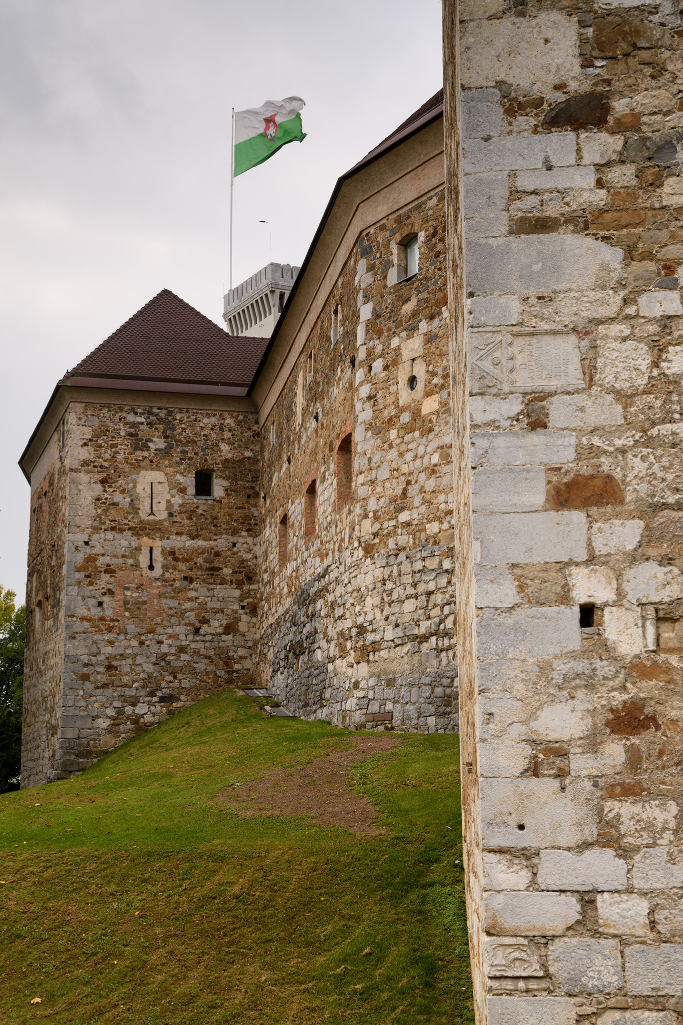 Outer walls of the Ljubljana Castle