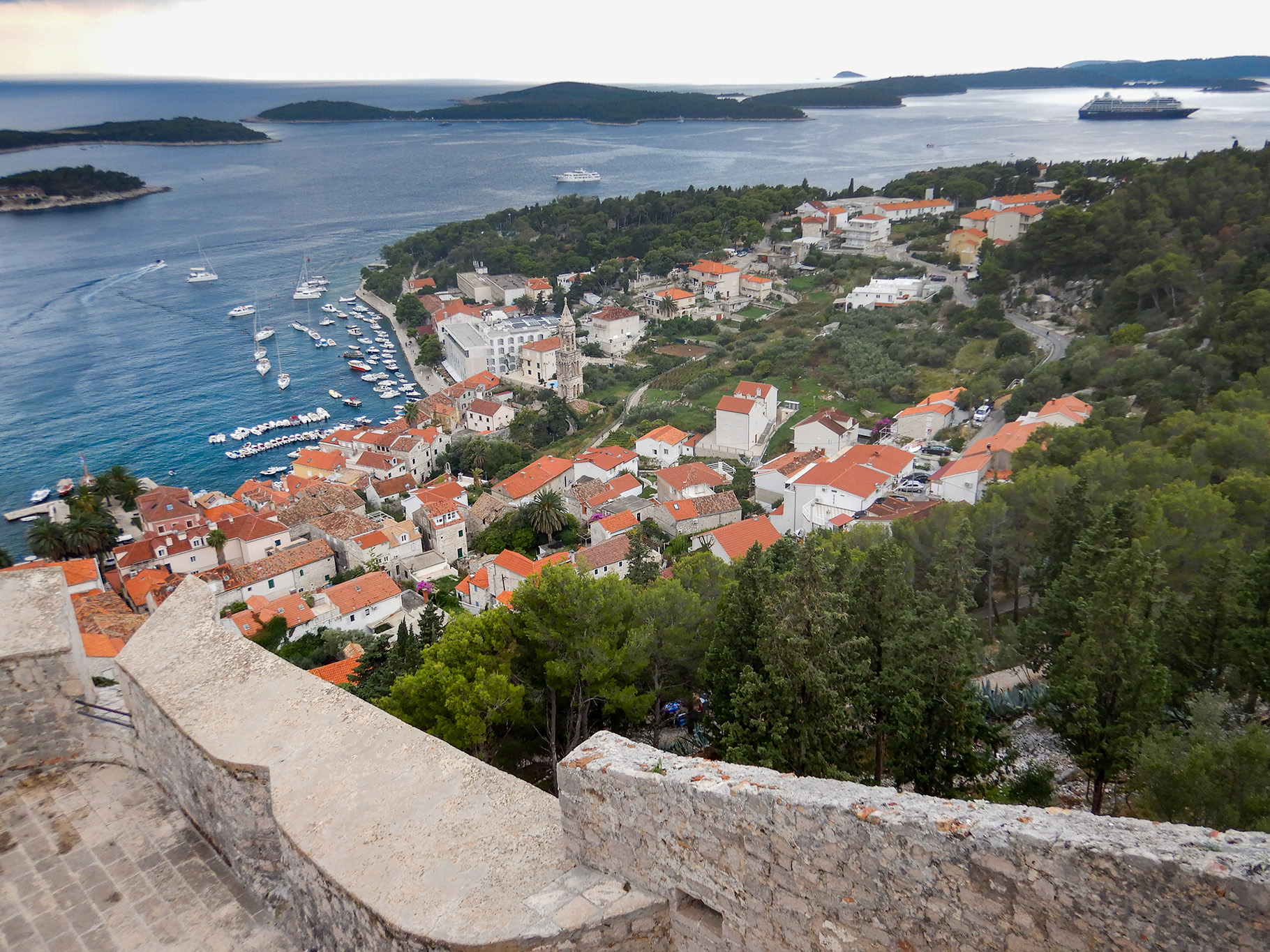 A view of the Adriatic from the fort