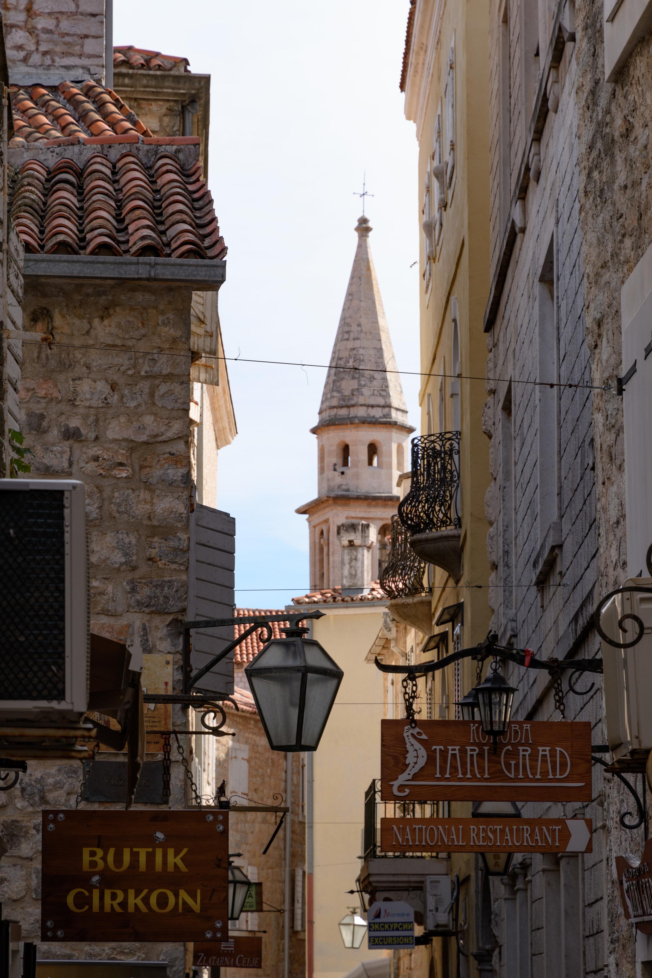 The Stari Grad (Old Town) of Budva