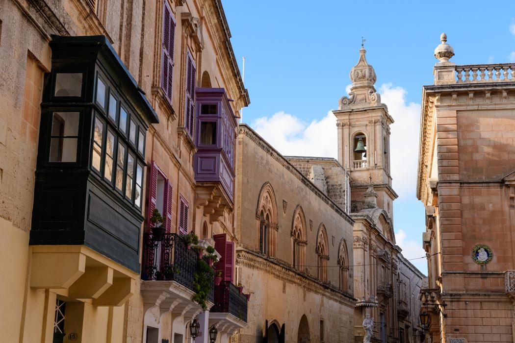 Maltese balconies in Mdina