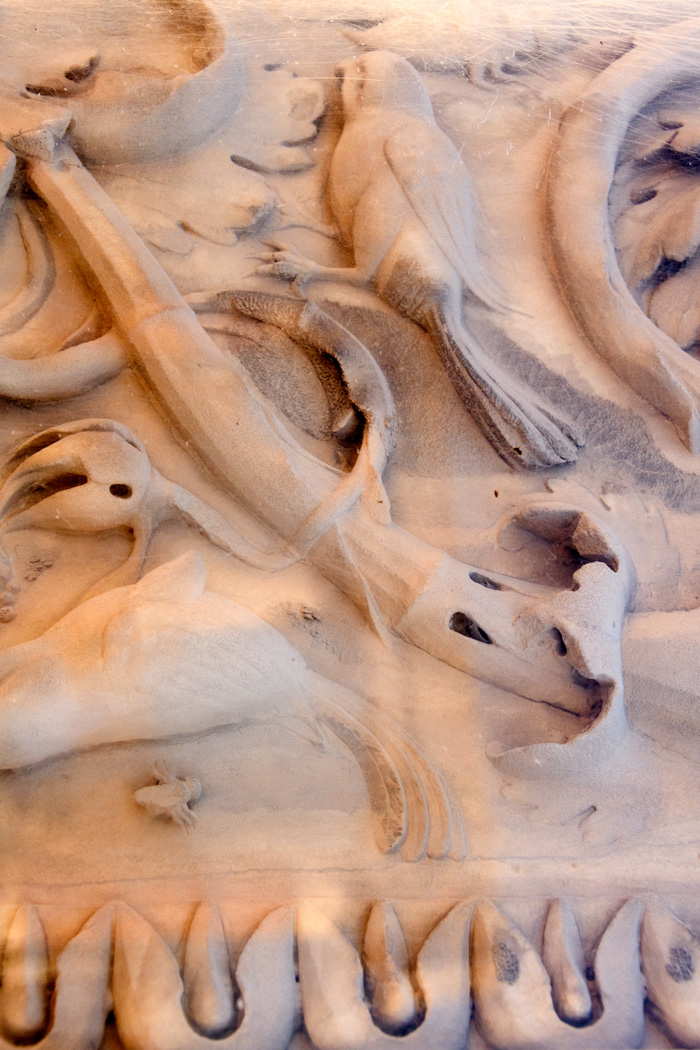 Detail of marble carvings on columns were perfectly preserved.