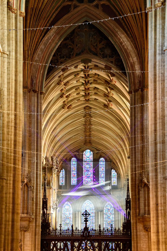 The Nave with the Star of Bethlehem Laser istalation