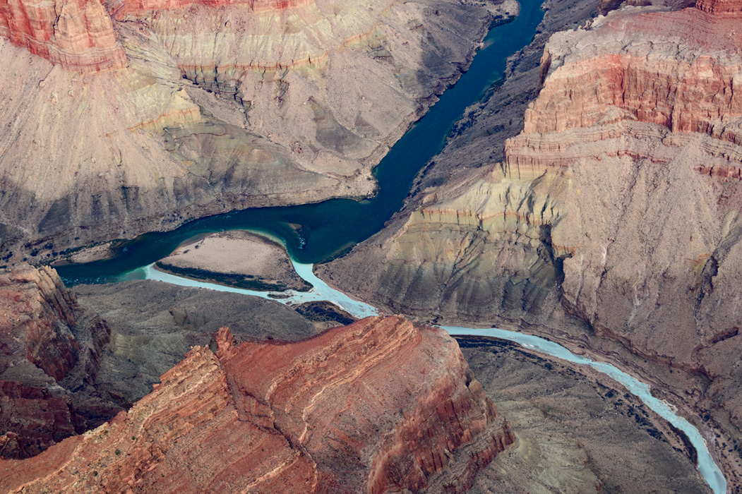 The confluence of the Colorado and Little Colorado rivers