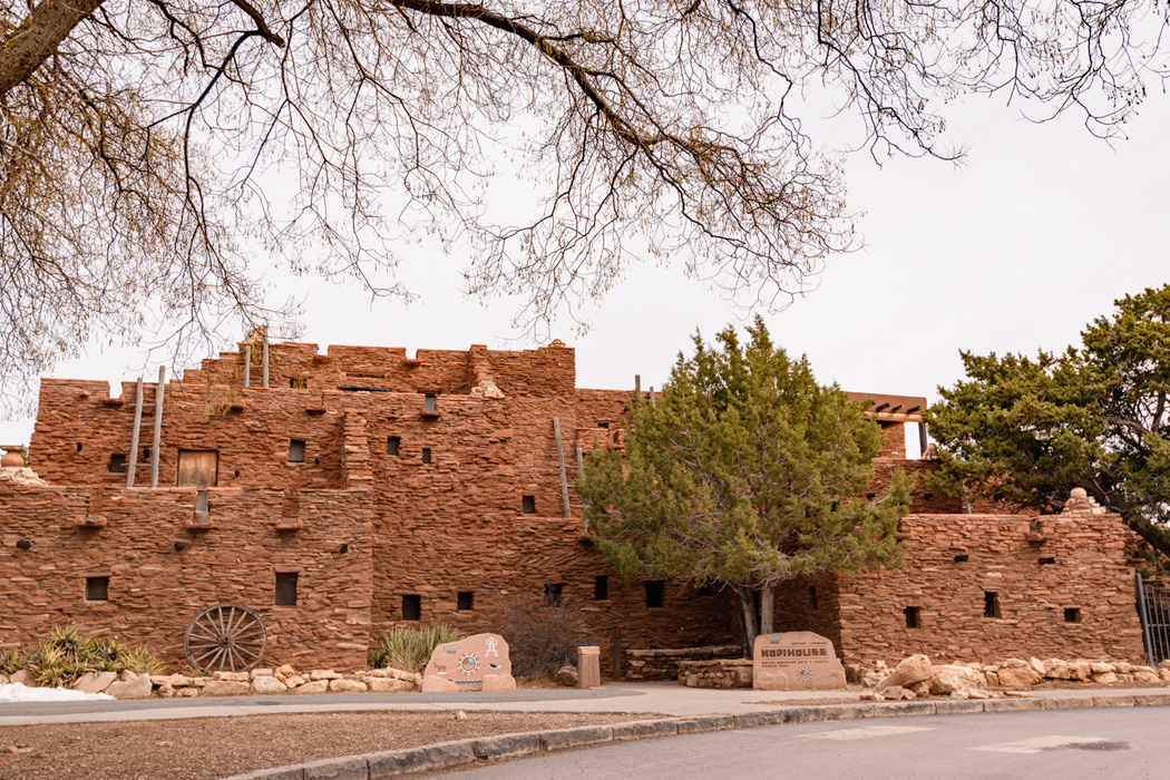 Hopi House, our guide explained that it was designed by Mary Colter researched native people and their architecture and designed much of the park based on her research.