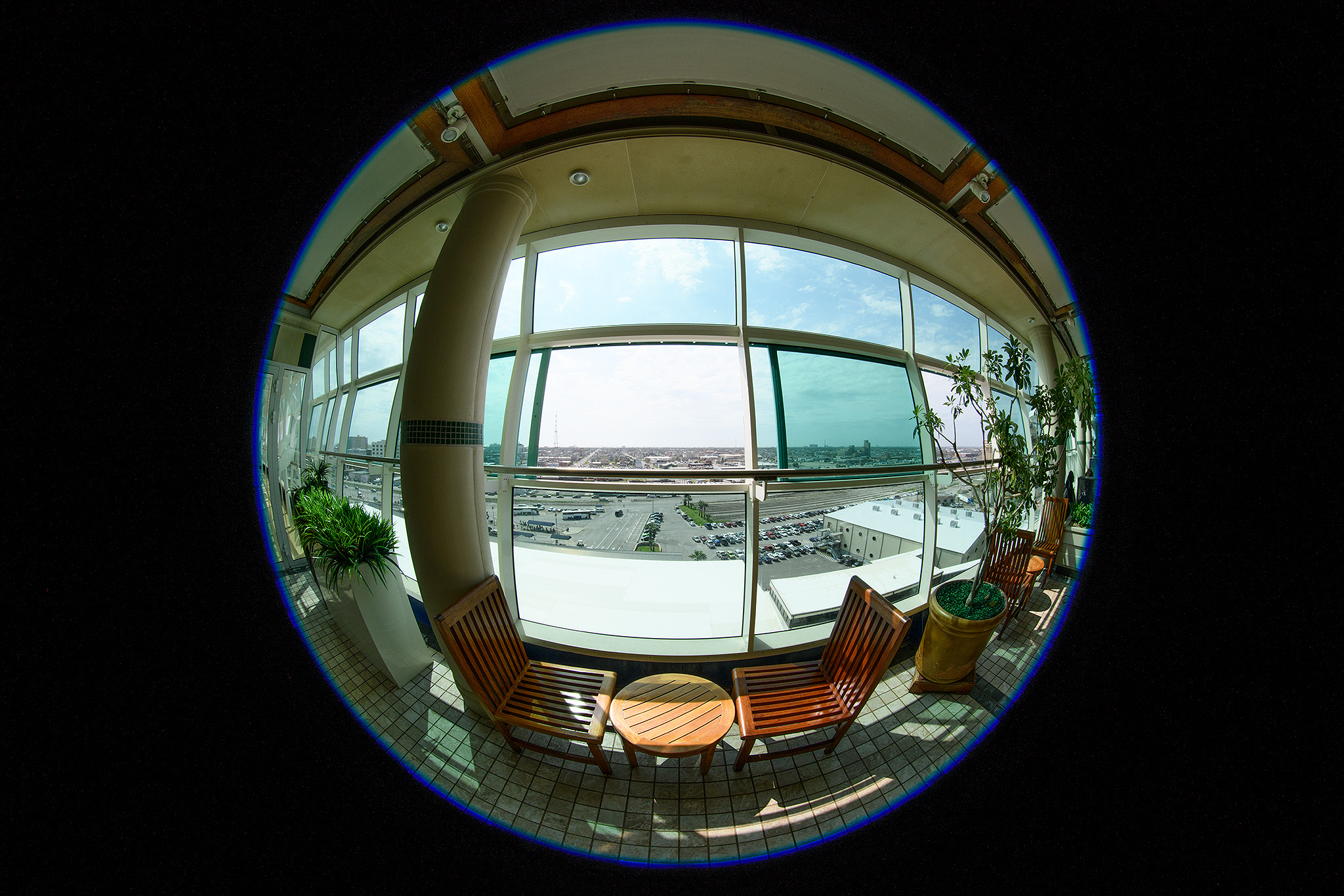 Fisheye view of the Solarium