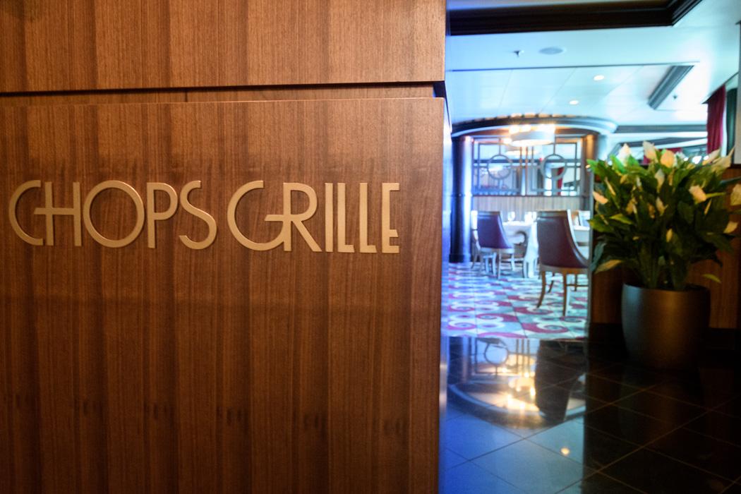 A specialty restaurant aboard Rhapsody of the Seas