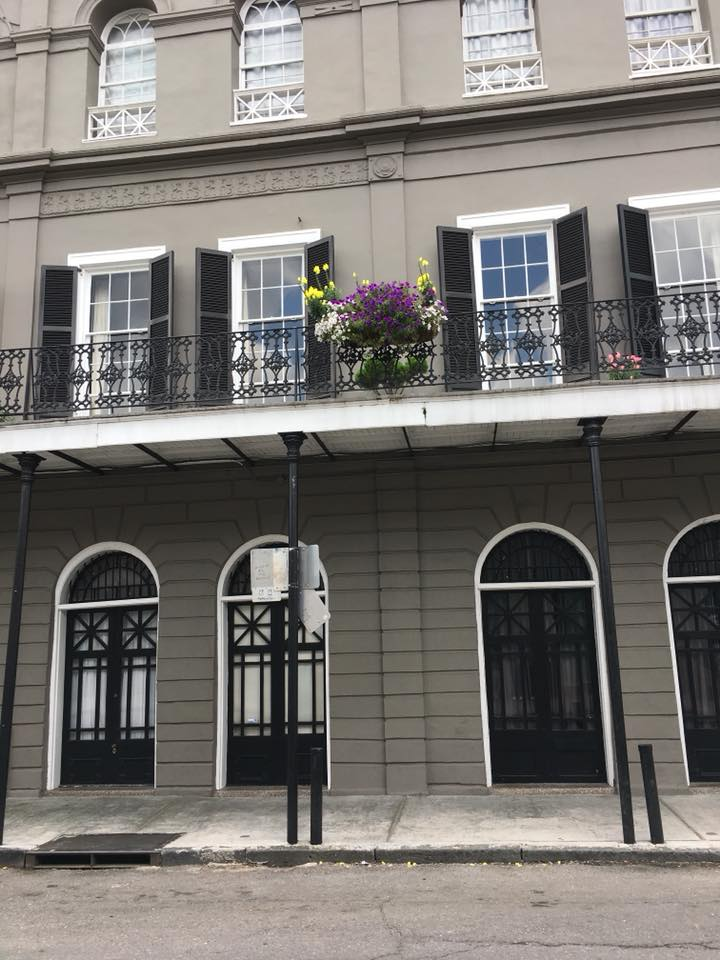 French Quarter Architecture, according to the bus driver, a home formerly owned by Nicholas Cages.