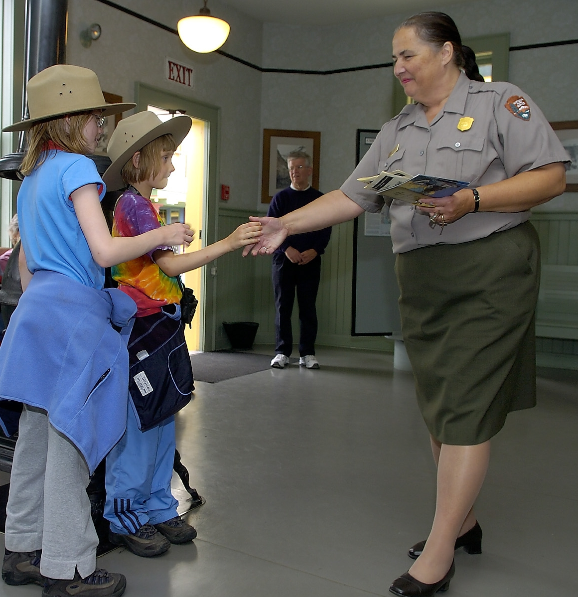 Our daughters, then 8 and 10 years old enjoyed earning Jr Ranger status at Klondike Historic National Park in Skagway in 2005. Look at that earnest little 8 YO face…wouldn't you take her back to Alaska if she missed something important!?