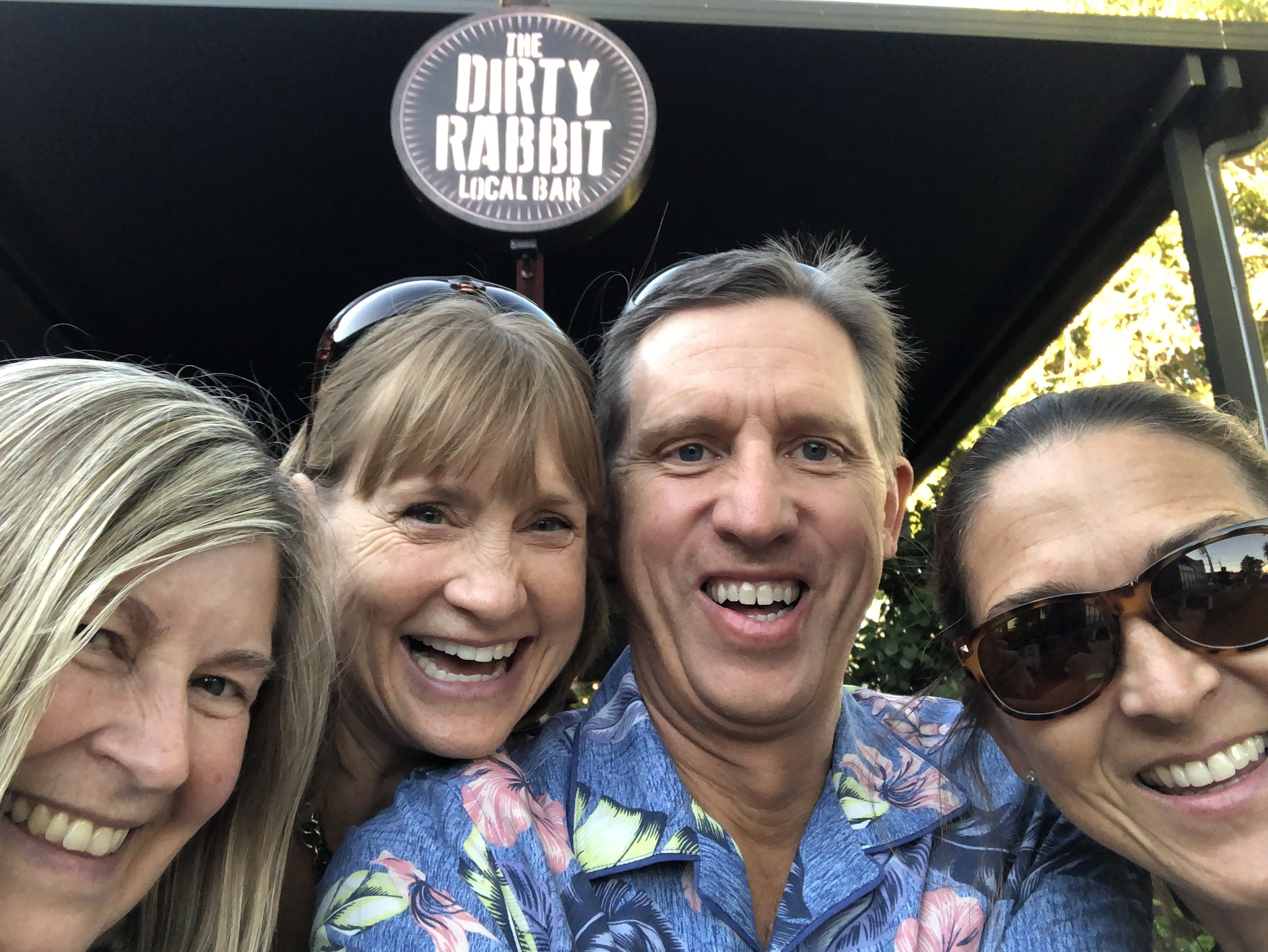 Enjoying a party at Dirty Rabbit, where DJ Gringo, one of the cruise DJs, hosts a pre cruise party.