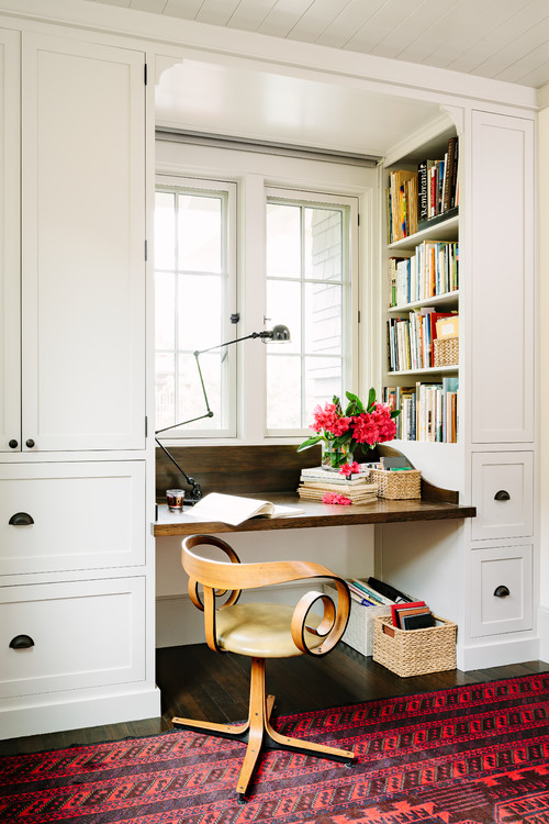 Craftsman Home Office  by  Portland General Contractor    The Works