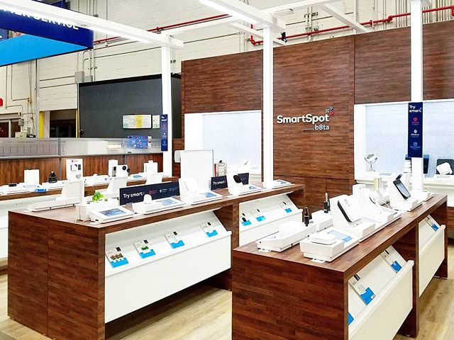 """lots of """"smart"""" things for your home in the #smartspot section a lowe's. lots of ideas to consider.. #homeimprovement #smarthome #techsavvy"""