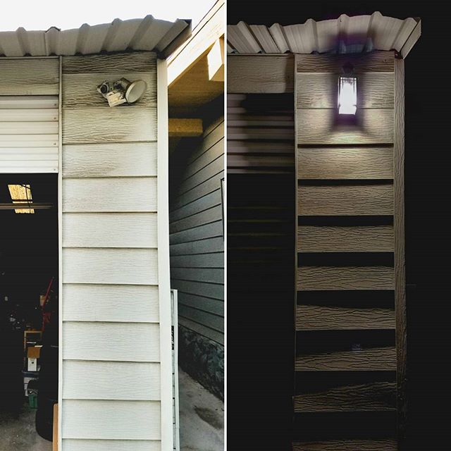 so, this janky, non-functinal fixture has been there since day one. almost four years! and it took us all of half an hour to replace. 😧 i don't know why we do this to ourselves. #thehousethatwaited #diy #homeimprovement #itsthelittlethings #procrastination #nightlight #beforeandafter