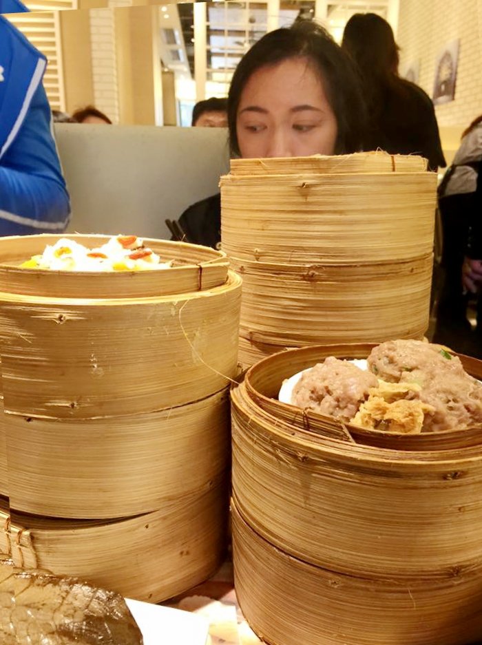 I've lost Jean behind these skyscrapers of dim sum