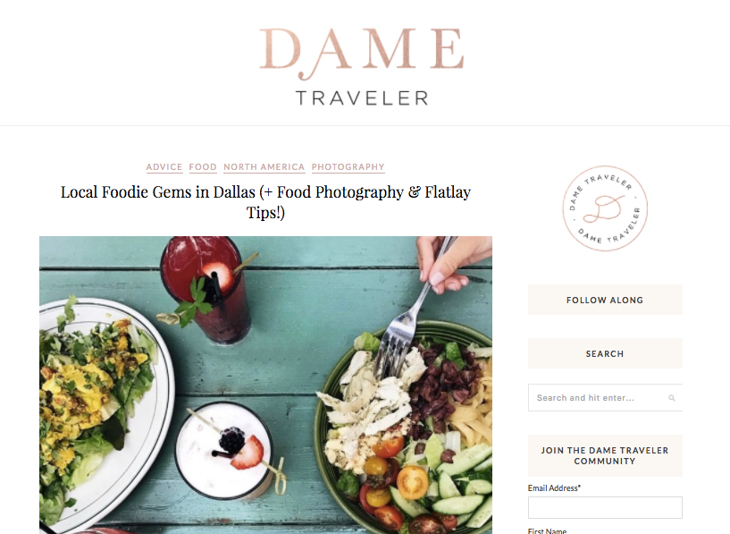 Dame Traveler: Food Guide/Photo Tips