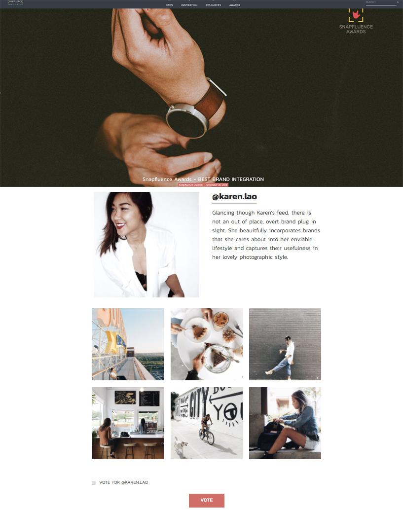 Snapfluence: Best Brand Integration 2016 Nominee