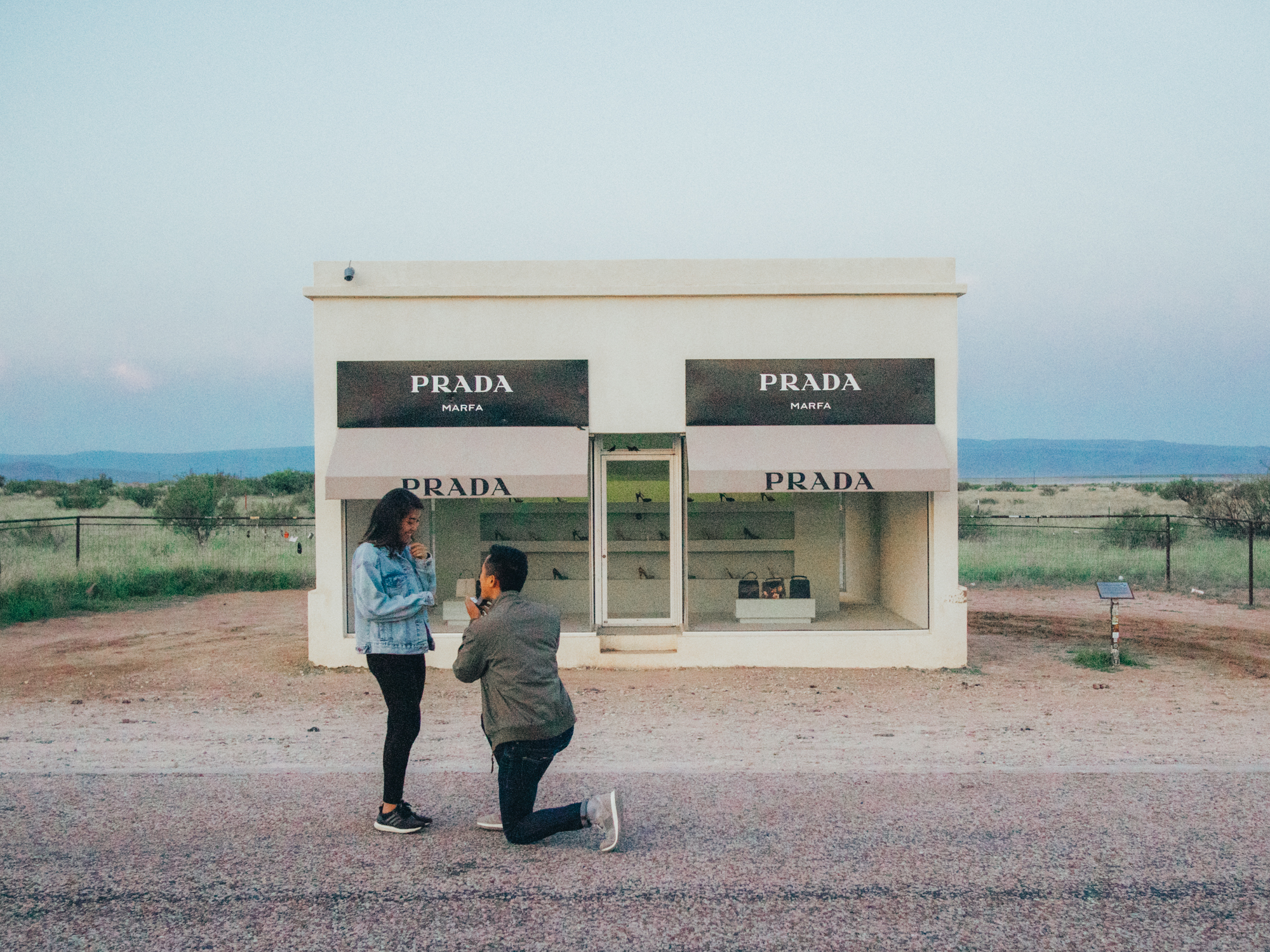 prada marfa proposal