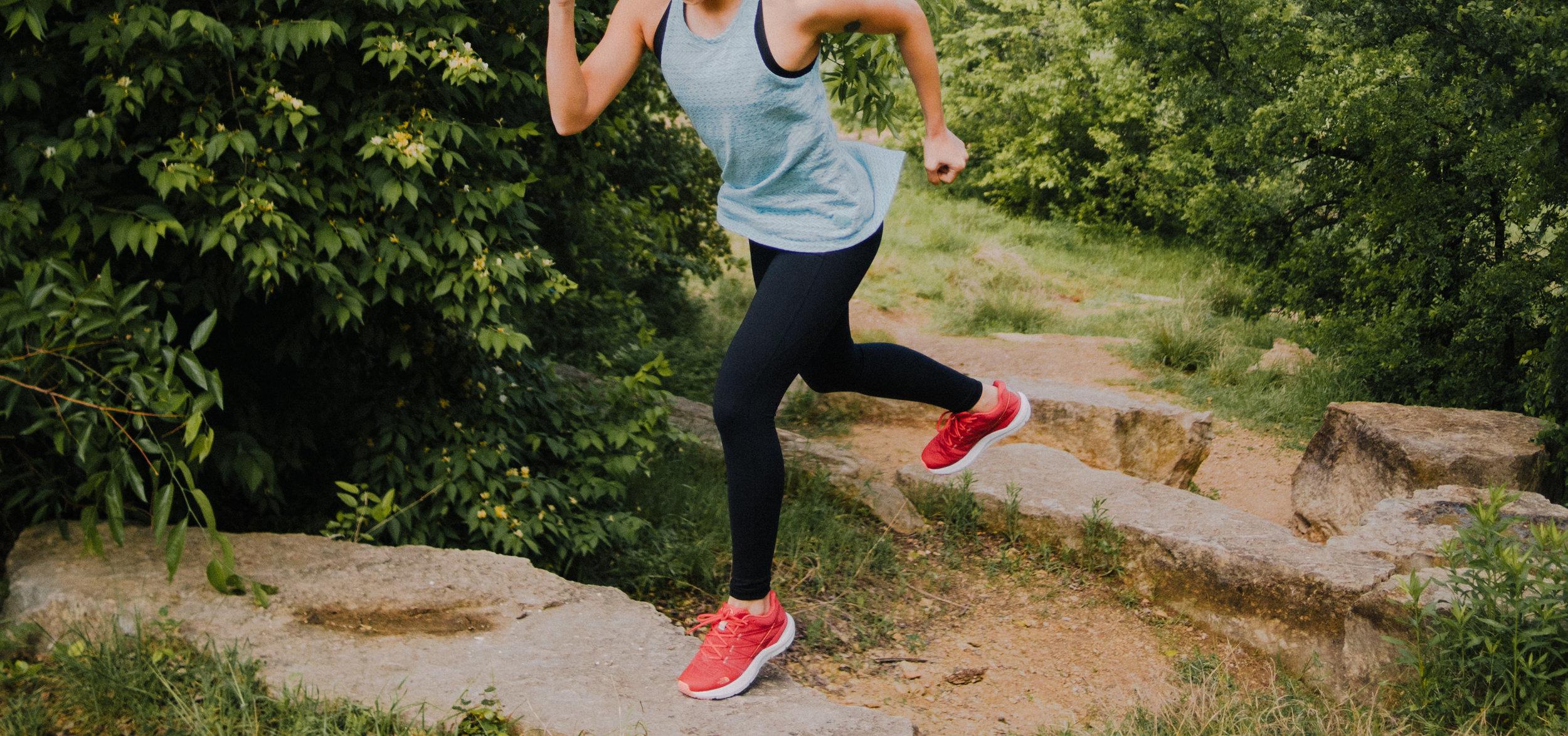 Top:  Afterburn Tank Top in Bristol Blue Heather , Leggings:  Perfect Core High-Rise Tights , Shoes:  Ultra Cardiac II