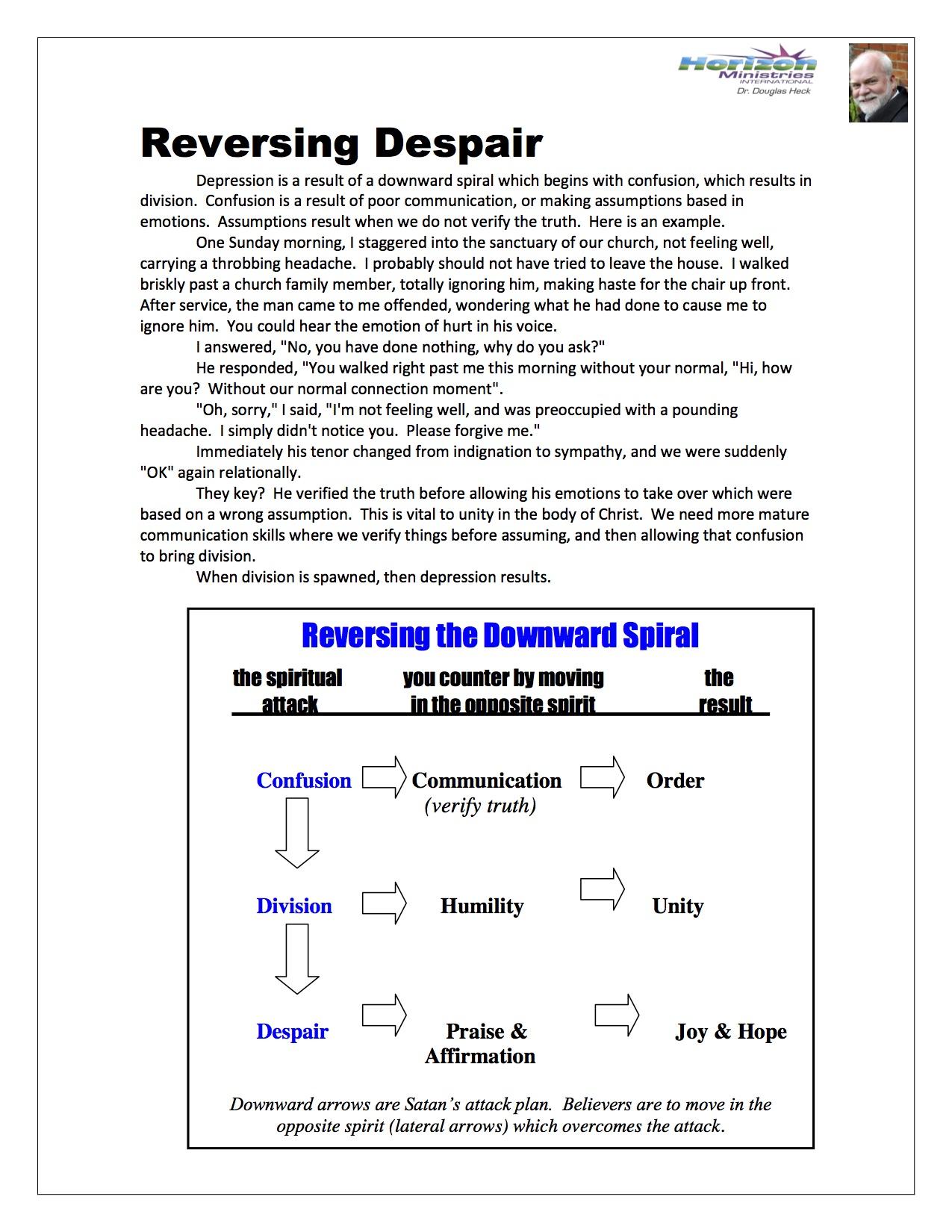 Reversing Despair