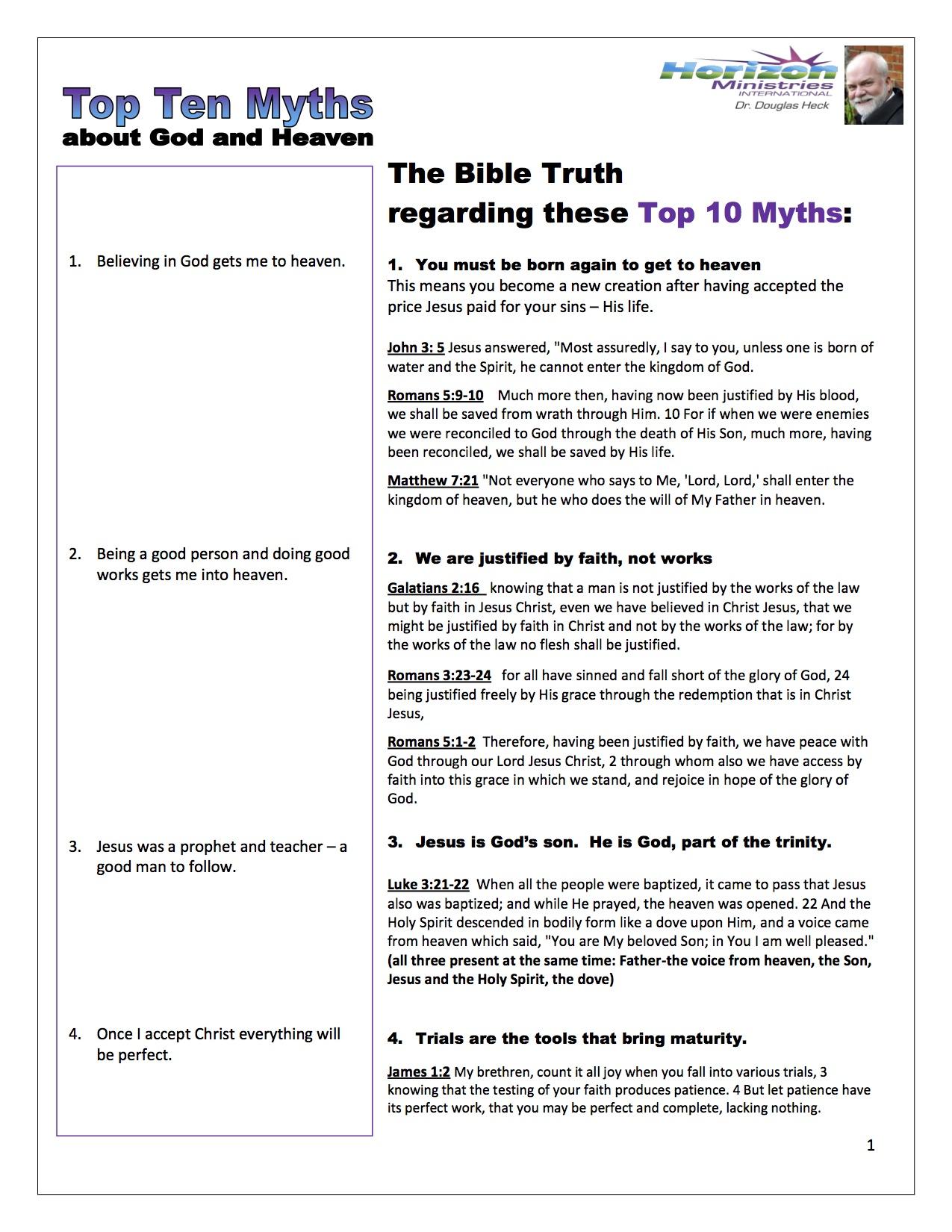 Top Ten Myths