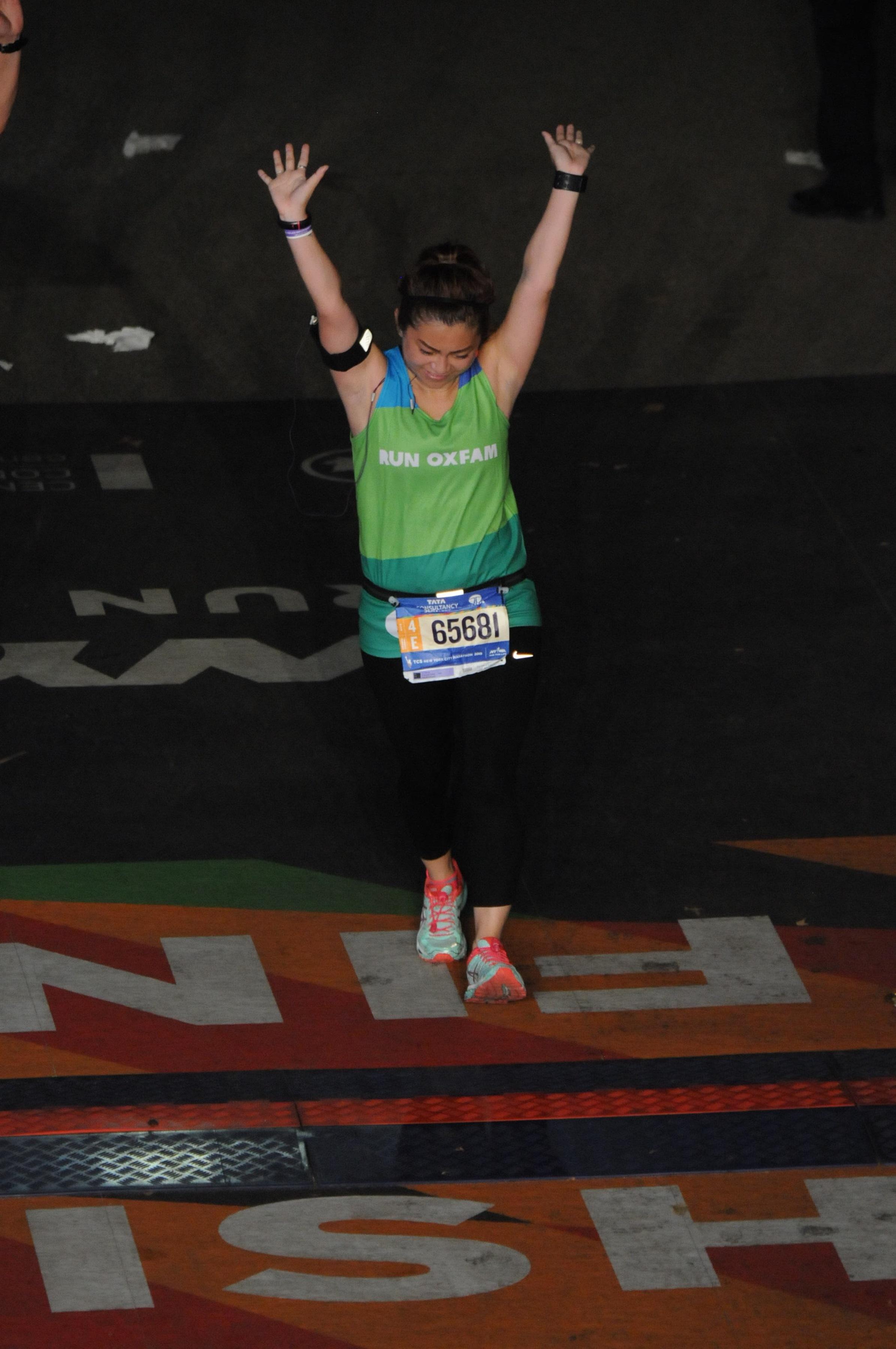 risa xu 2015 nyc marathon finish
