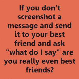 screenshot message best friend