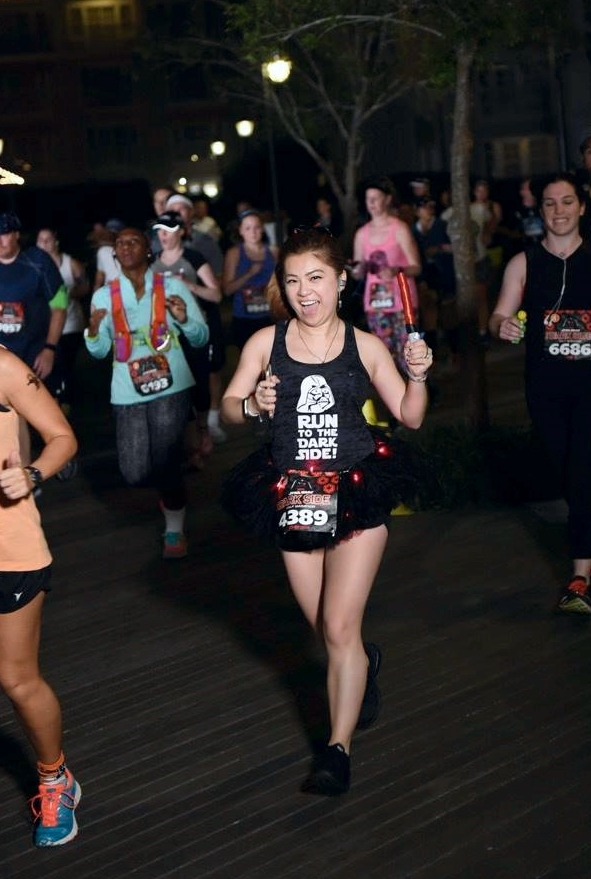 risa xu rundisney inaugural star wars dark side half marathon