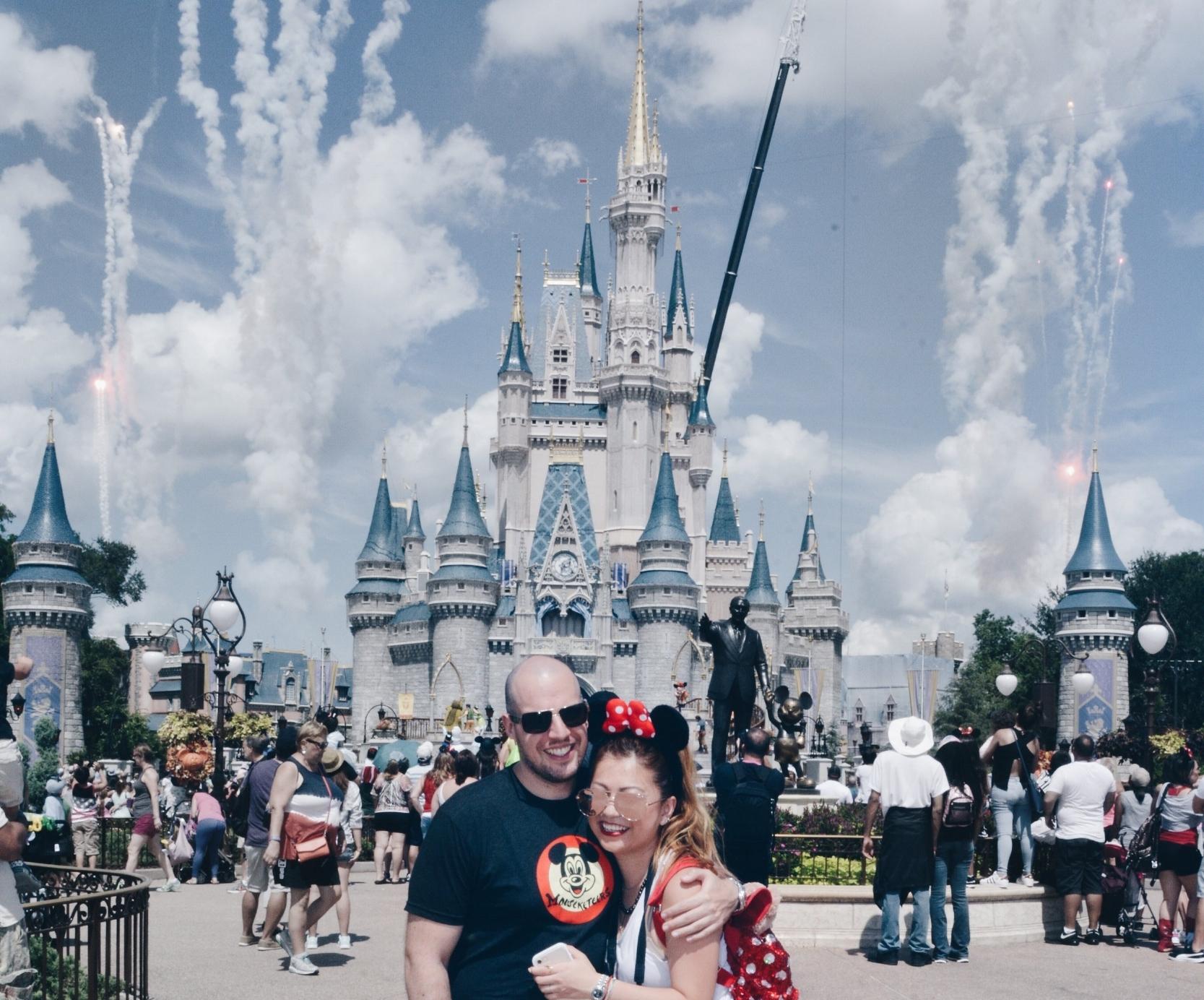 risa xu walt disney world castle fireworks