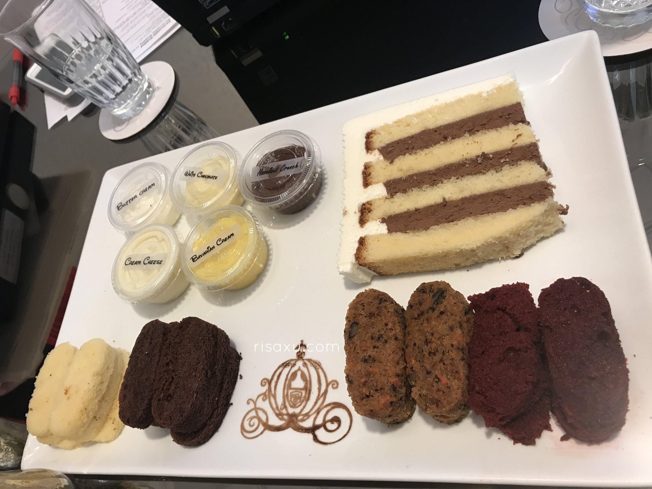 risa xu Disney wedding planning session cake tasting