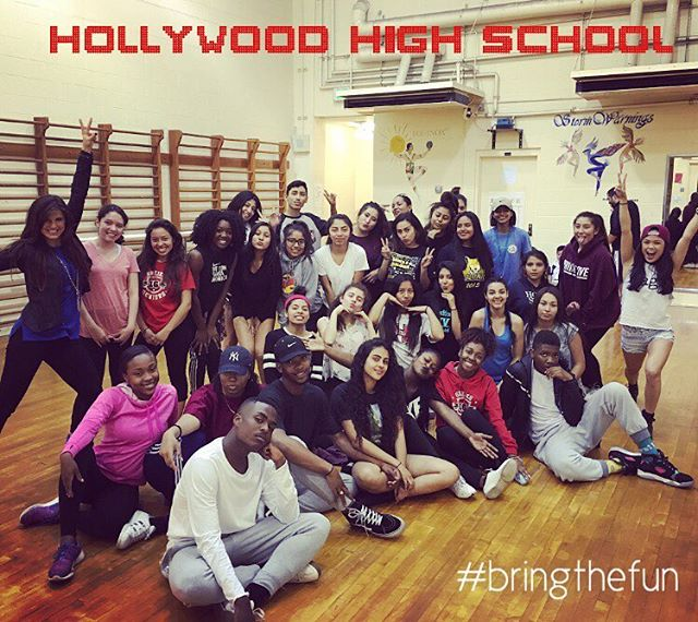 So grateful to have meet these wonderful, talented students yesterday at #HollywoodHighSchool! Thank you for inspiring us and for letting us share our stories with you... AND REMEMBER... If everyone on your team posts an IG pic of getting the bracelet from one of their team members, then We will send the whole team their own @passthetag bracelets #givingtothosethatgive #passthetag #makeadifference #spreadpositivity #freeyo #bringthefun #worldchangers