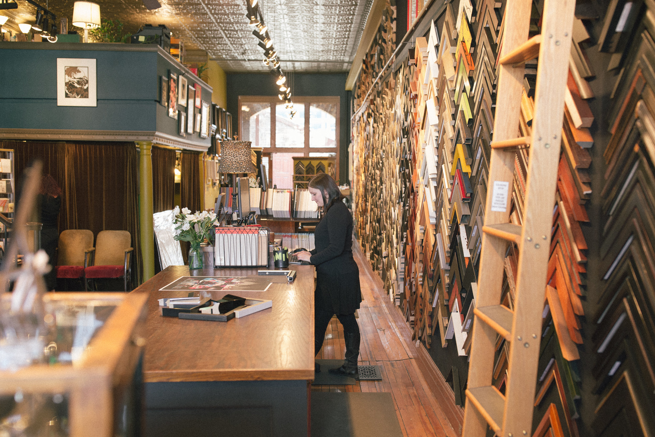 North Loop Minneapolis framing studio and frame shop