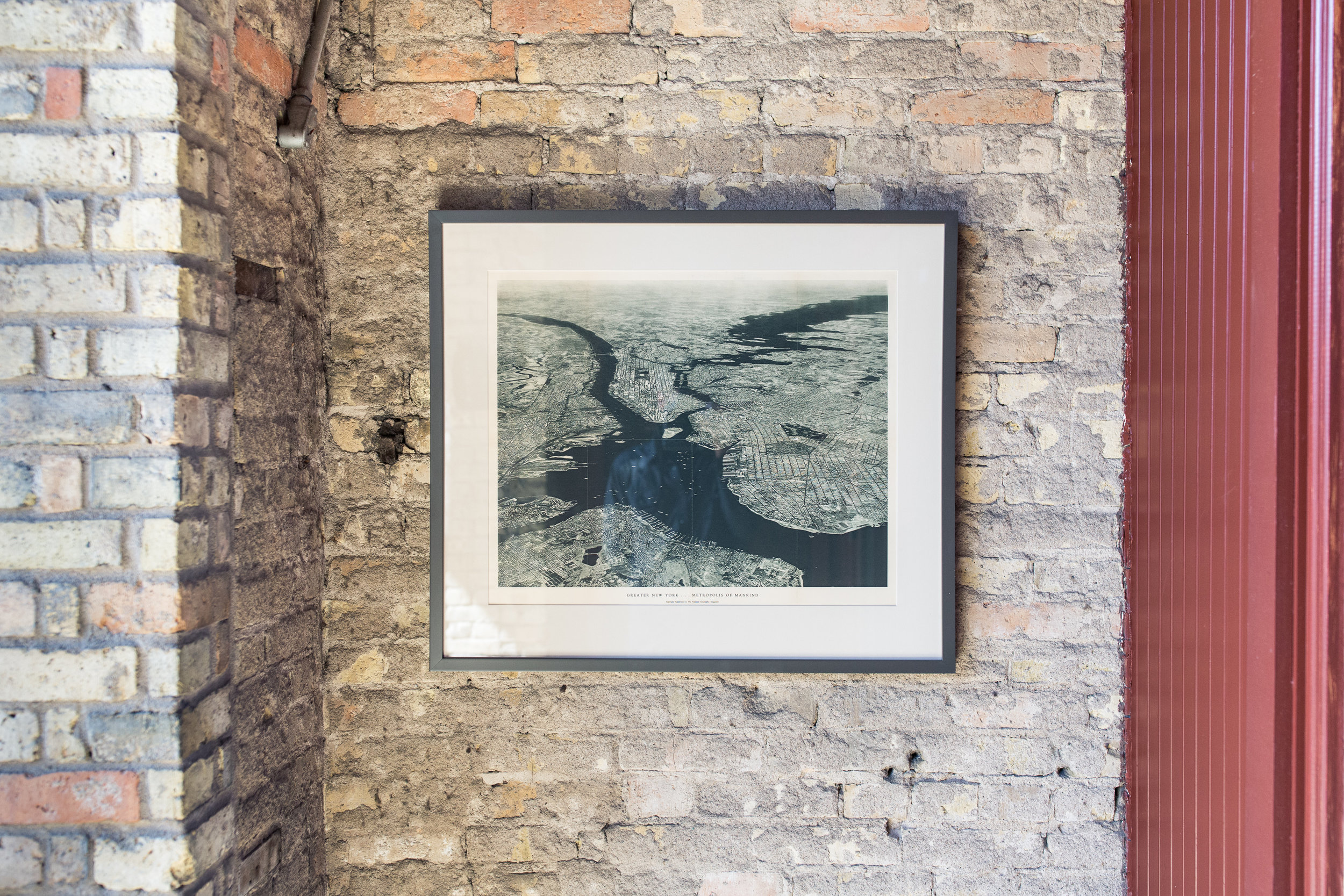 Vintage photograph framed in charcoal matte lacquer.