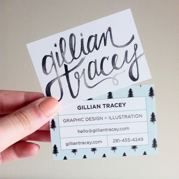Gillian Tracey Design Business Cards