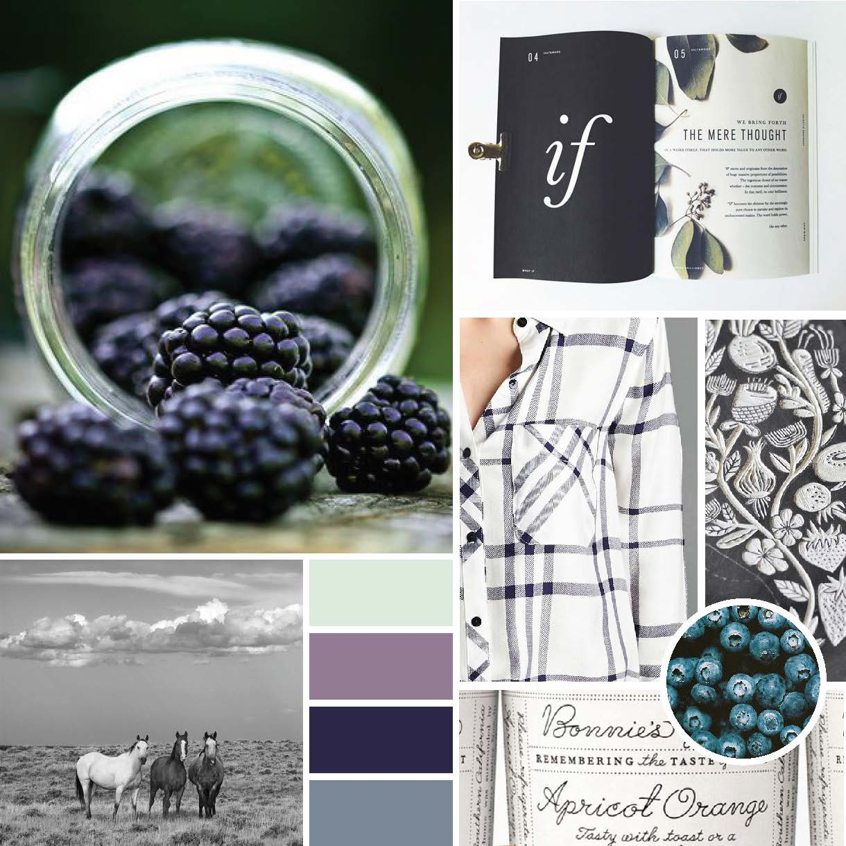 Becky's Berries Concept Mood Board by Gillian Tracey Design