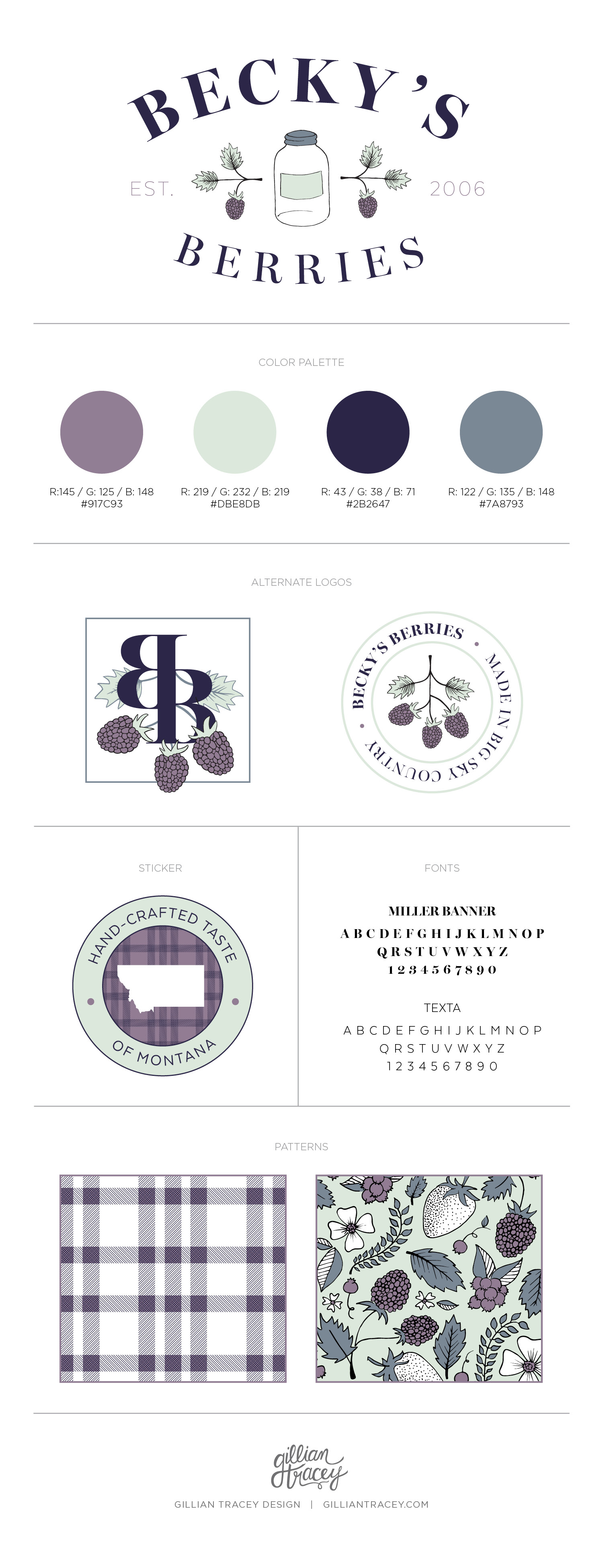 Becky's Berries Brand Identity Concept by Gillian Tracey Design