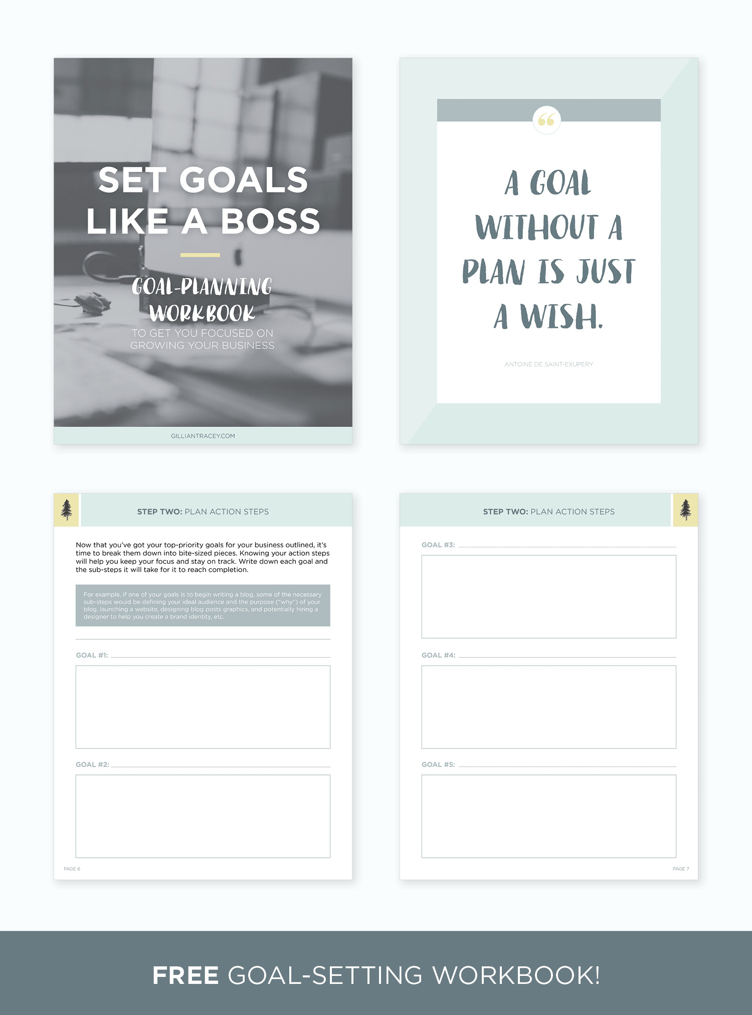 Set Goals Like a Boss: Goal-Planning Workbook by Gillian Tracey Design