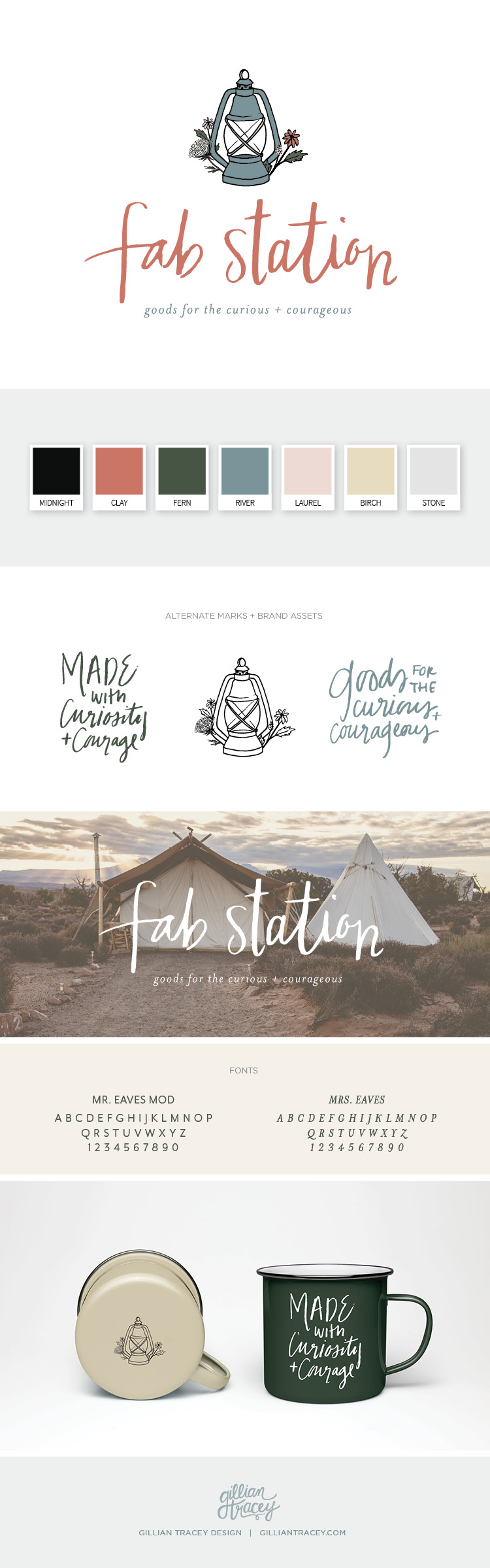 Fab Station Custom Brand and Logo Design by Gillian Tracey Design