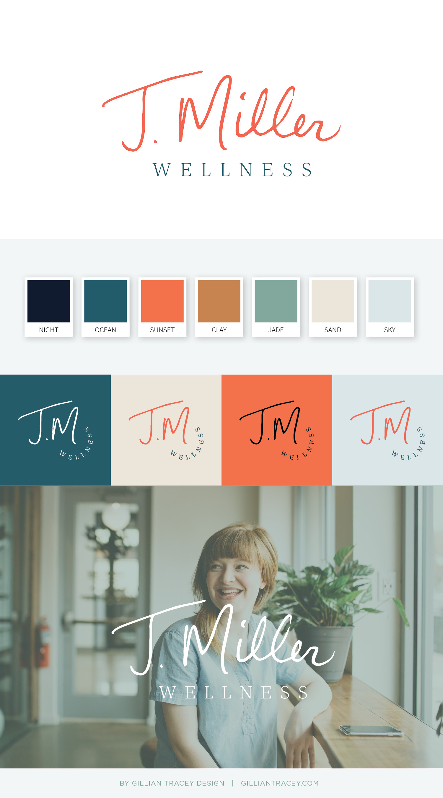 J. Miller Wellness branding by Gillian Tracey Design