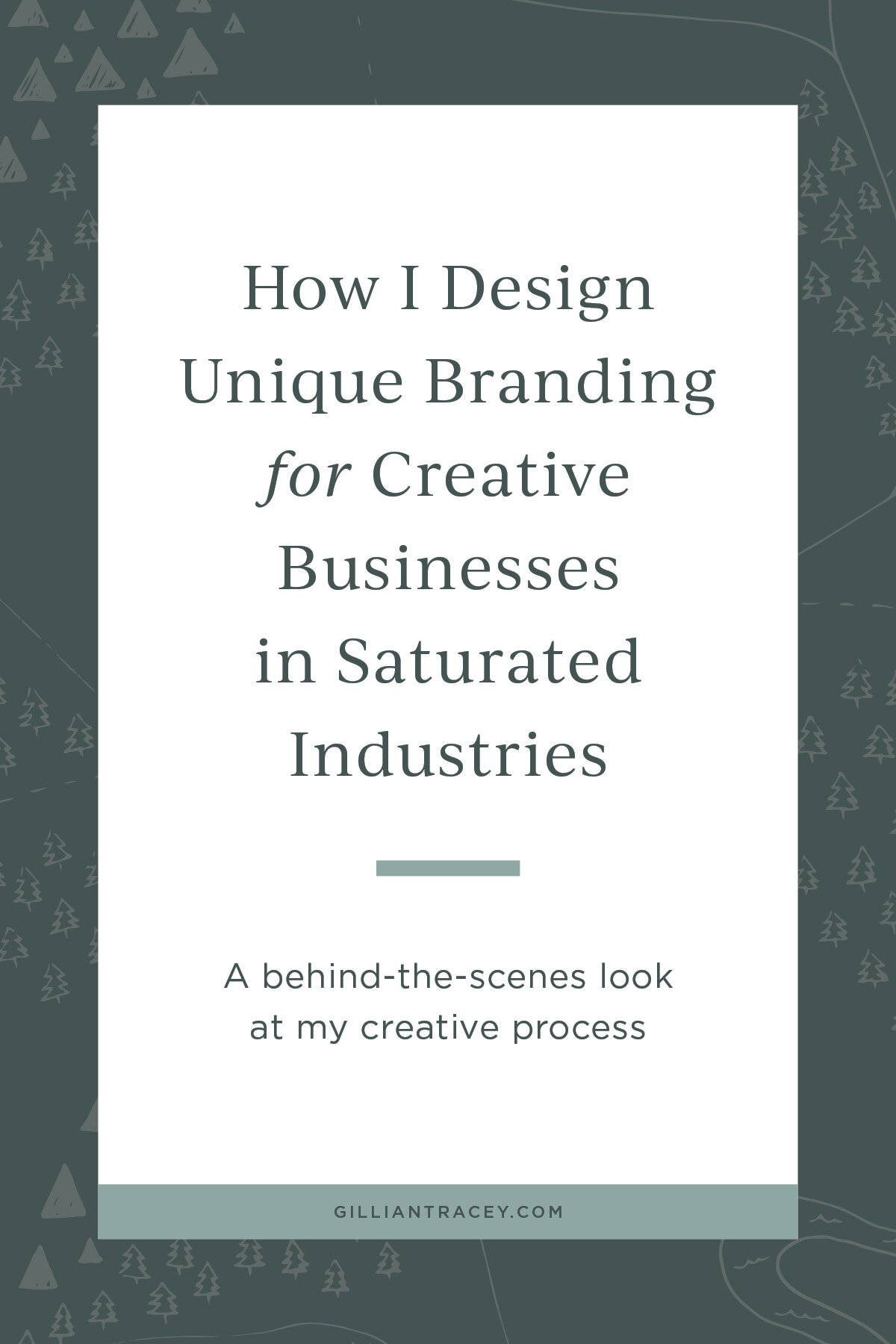 How I Design Unique Branding for Creative Businesses in Saturated Industries, by Gillian Tracey Design