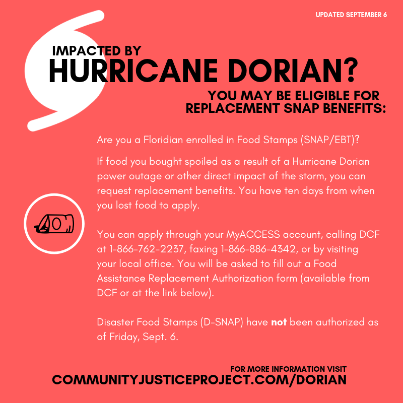 Hurricane Dorian Resource Page Community Justice Project