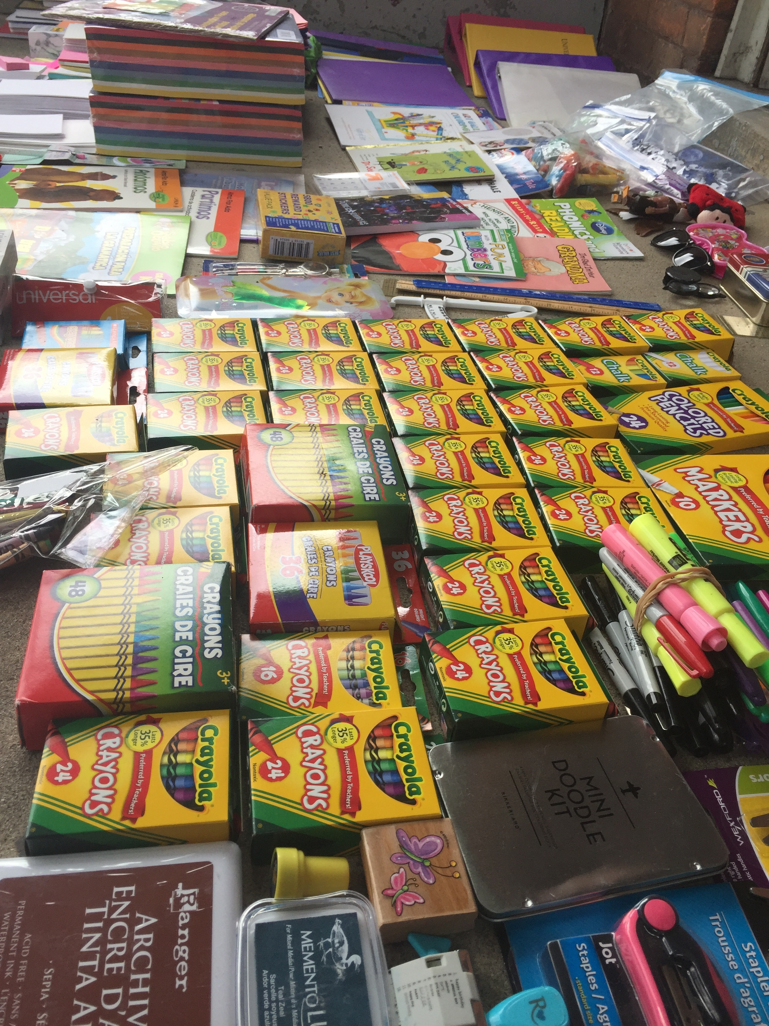 84 Boxes of Crayons - Donated by generous individuals at UM and Scarlett Middle School