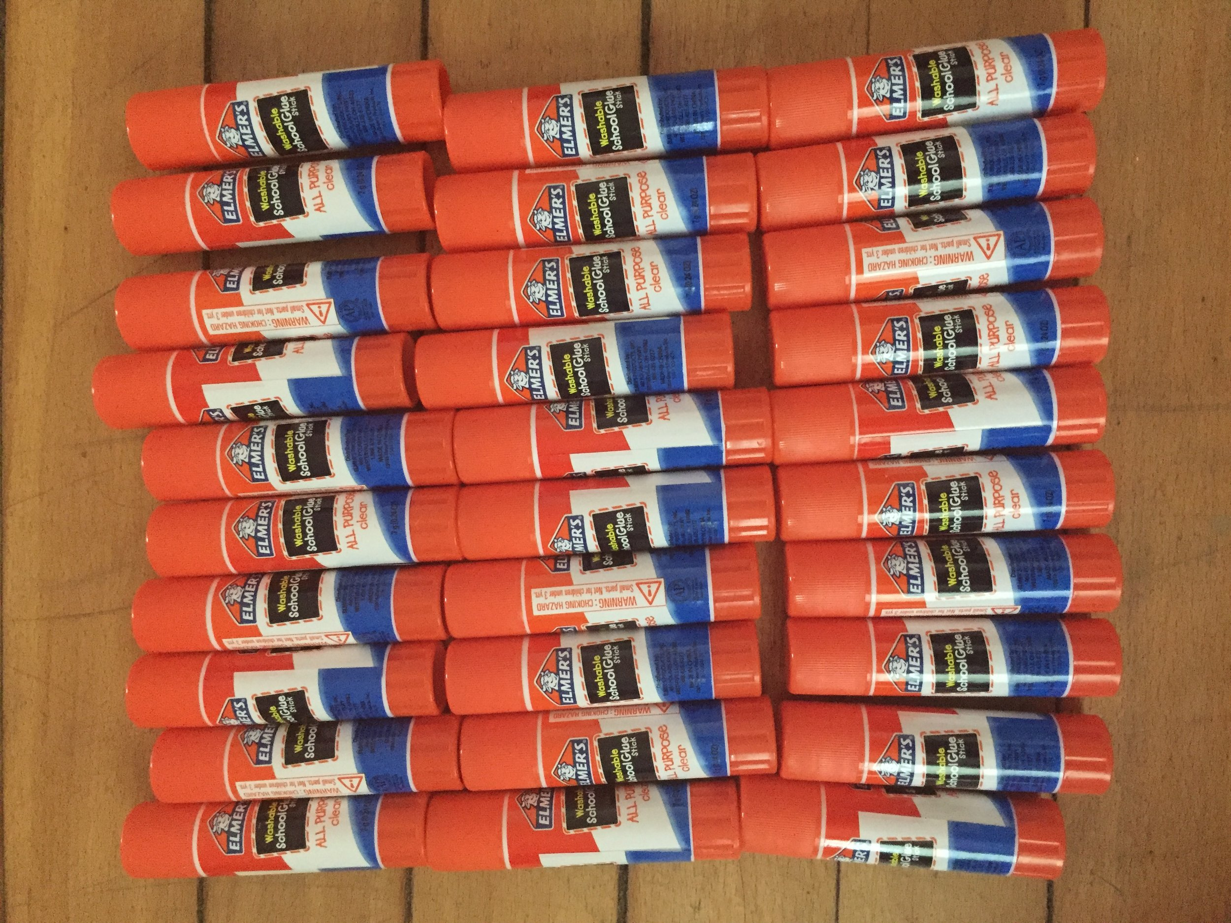 98 Glue Sticks  - Donated by generous individuals at UM and Scarlett Middle School