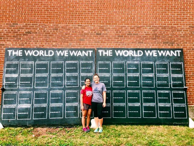 In #Columbus? The World We Want wall is LIVE at the Independence Day festival. Come tell us - What world do you want to live in? 🎨💥🌎 #theworldwewant #interactive #community #art #ohio