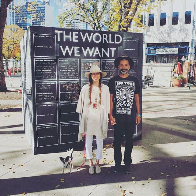 Hats off to our lead Makers @robindra and @myrahpenaloza in Edmonton for bringing The World We Want to @itstimetobloom 2015  To check out more locations popping up around the world click the link in our profile! ☝
