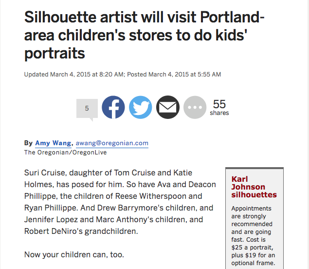 Article in The Oregonian