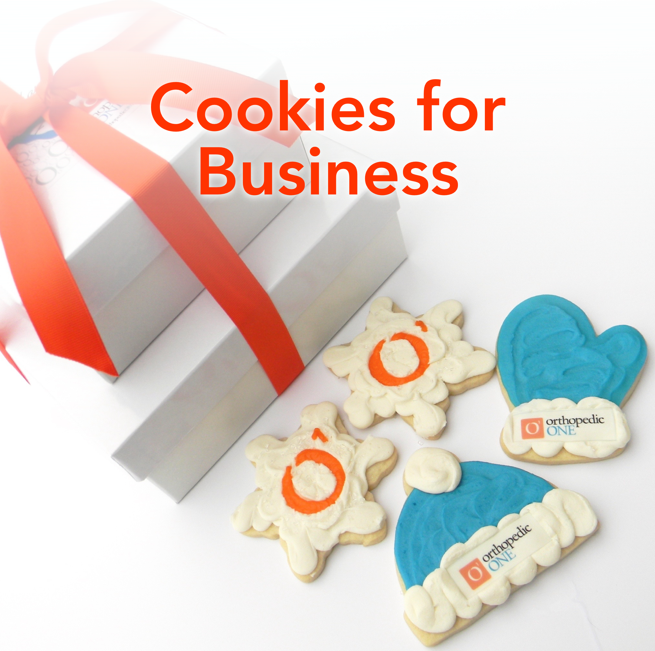 Cookies with your company logo make great gifts or a special touch for corporate events. Learn more.