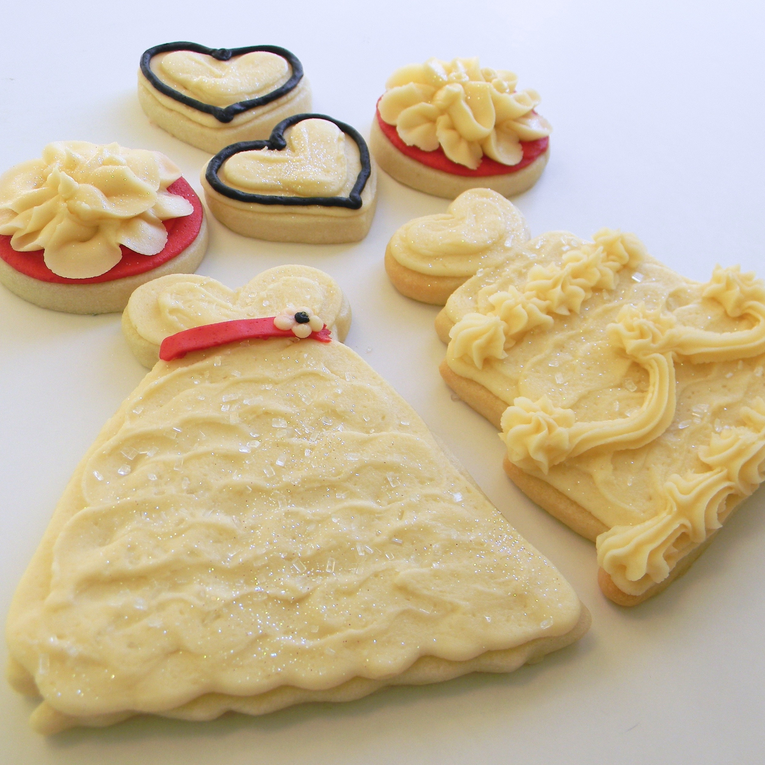 Wedding.cookies.dress.cake.combo.jpg