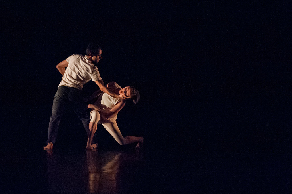 Penny Saunders and Pablo Piantino of SFDanceworks in Saunders'  Berceuse .  photo: Natalia Perez